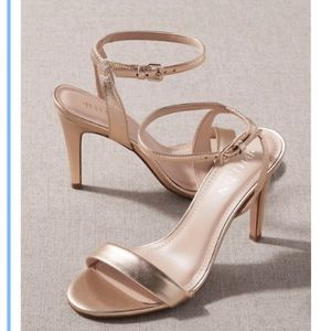 BRAND NEW BHLDN gold shoes; Size 7